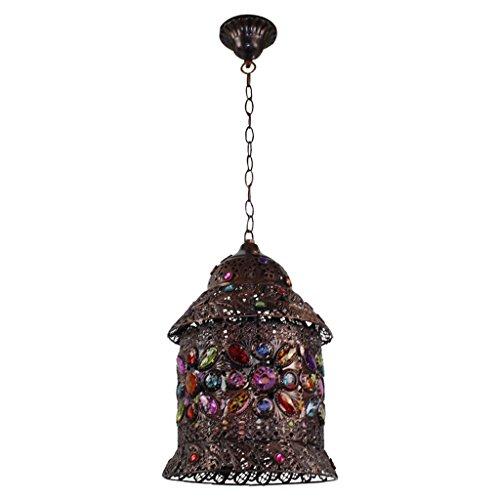 casa Monopoli Colore Birdcage Lampadario Il Mar Mediterraneo Style Lampade Plexiglass Ombra -E14