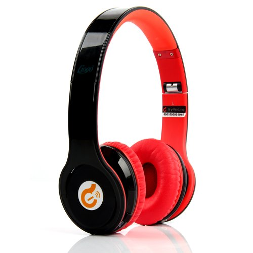 Globalebuy G15 Professional Wireless Bluetooth Noise Reduction Cancellation Foldable Headphones Enjoy Music And Receive Calls Wirelessly For Iphone, Ipad, Samsung, Ipod, Galaxy, Htc & More Smartphones. (Black With Red)