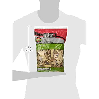 Weber-Stephen Products 17138 Apple Wood Chips, 192 cu. in. (0.003 cubic meter)