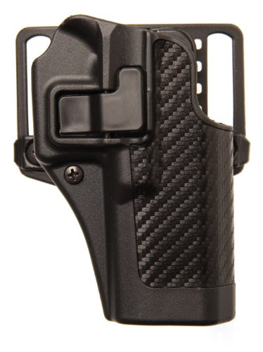 BLACKHAWK! Serpa CQC Carbon Fiber Appliqué Finish Concealment Holster, Size 41, Right Hand, (Ruger SR9 with Applique)