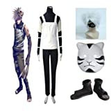 Naruto Kakashi Anbu Cosplay Costume Outfit with Wig&mask&shoes