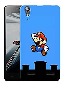 "Humor Gang Kid Game Cartoon Jumping Printed Designer Mobile Back Cover For ""Lenovo A6000 - A6000 PLUS"" (3D, Matte, Premium Quality Snap On Case)"