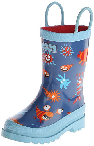 Hatley Little Boys' Rainboots Microscopic Creatures, Blue, 7 front-551393
