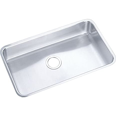 Elkay ELUHAD281645 Gourmet Kitchen Sink Lustrous Satin Stainless Steel Undermount
