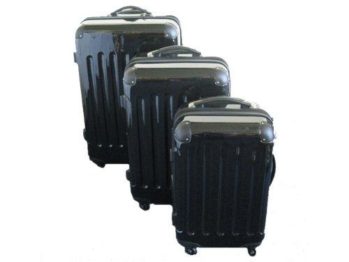 3-tlg. Hartschalen-Kofferset aus Polycarbonat