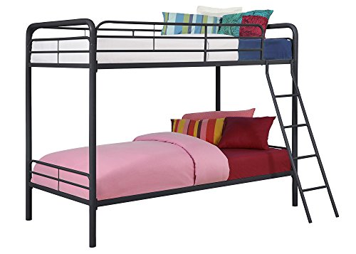 dhp bed frames bunk beds twin over twins metal black kids