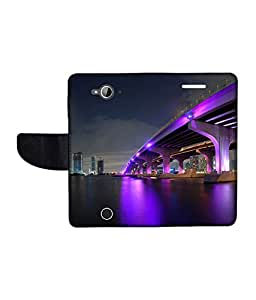 KolorEdge Printed Flip Cover For Acer Liquid Z530 Multicolor - (1478-50KeMLogo09091AcerZ530)