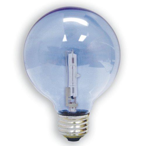 Ge 82141-6 60-Watt G25 Reveal With Halogen Long Life Globe, 6-Pack