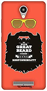 The Racoon Lean Respect thy Beard hard plastic printed back case / cover for Xiaomi Redmi Note 2