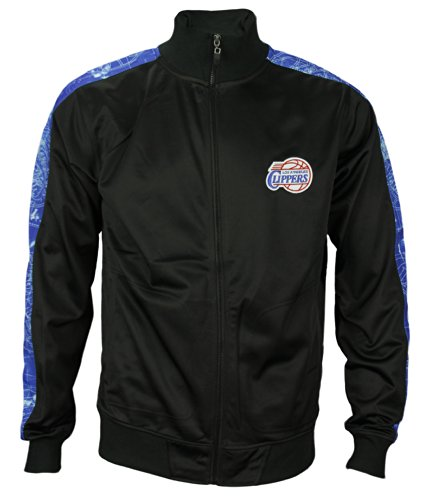 Los Angeles Clippers NBA Mens Zipway Blue Print Track Jacket - Black