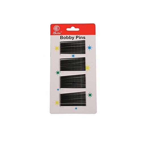 60 barrettes cheveux épingles fines en métal noir