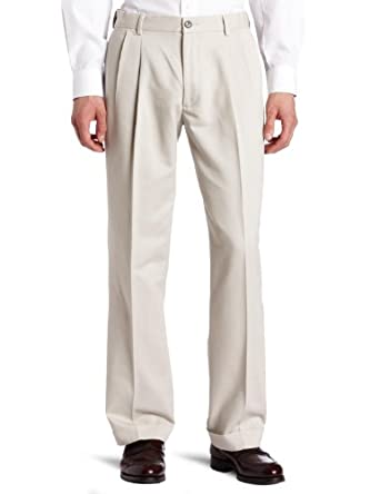 Dockers Men's Comfort Waist Khaki D3 Classic Fit Pleated-Cuffed Pant, Pebble Beach, 29x30