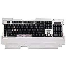 SADES Arbiter Professional Mechanical Gaming Keyboard for PC Full Non-conflict Keys (White)