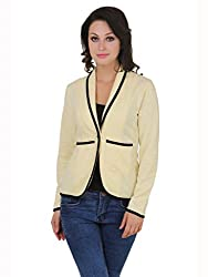 Cherymoya Women's Cotton Jersey Jackets (CM-1400656_Yellow__Small)