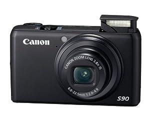 Canon PowerShot S90 Digitalkamera (10 Megapixel, 3,8-fach opt. Zoom, 7,6 cm (3 Zoll) LCD-Display, 1:2,0-4,9) schwarz