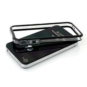 Bumper iPhone 4s/4 avec boutons - transparent et noir