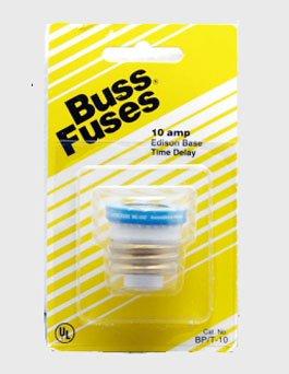Cooper Bussmann BP/T-10 Type T Plug Fuse Time Delay Fusetron