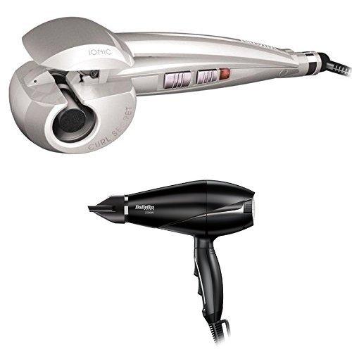 BaByliss C1101E - Arricciacapelli automatico Curl Secret Ionic Pearl Edition +  BaByliss 6604E Asciugacapelli AC 2000W