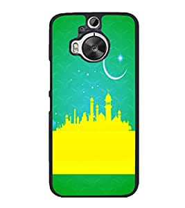 printtech Eid Muslim Allah Chaand Ramzan Back Case Cover for HTC One M9+