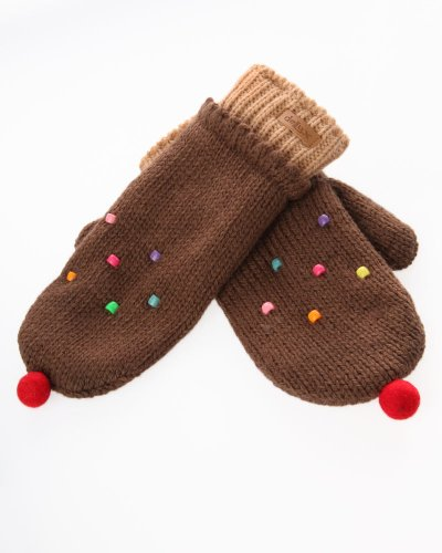 DeLux Chocolate Cupcake Wool Mittens - Limited Edition