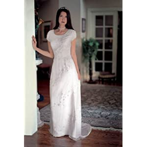 Eternity By Millennial Sun Ivory Size 12 Silk Informal Bridal Gown Wedding Dress LDS Modest