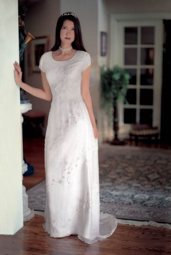 Ivory informal wedding dress