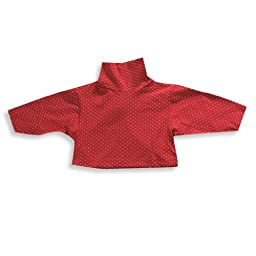 Mulberribush - Baby Girls Long Sleeve Polka Dot Turtleneck, Red, White 18450-12Months