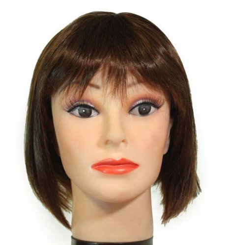 Halloween Costumes For Women With Short Hair 11 Short Dark Brown tipped Medium Auburn bobcut / bangs synthetic wig