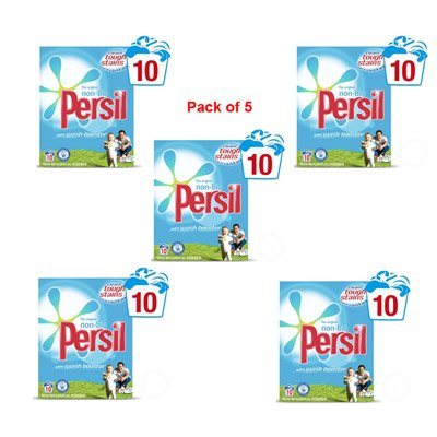 Persil Non Bio Powder 10 wash Pack of 5 - 853290 x 5 - packaging may vary