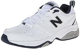 New Balance Men\'s MX623 Cross-Training Shoe,White/Navy,11.5 D US
