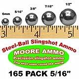 165 pack 5/16' Steel-Ball slingshot ammo (12 oz)