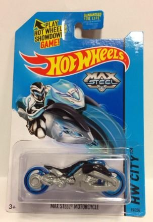 Hot Wheels Max Steel Motorcycle (Black) (85/250) - 1