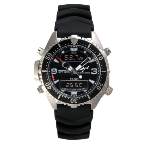 Chris Benz - CB-D-BLACK-KB - Montre Mixte - Quartz Digitale - Bracelet Caoutchouc Noir