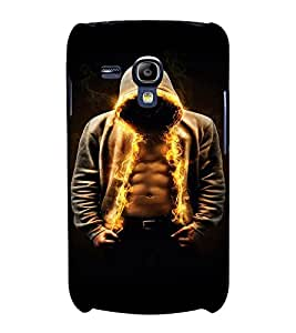 PrintVisa Cool Boy Fire 3D Hard Polycarbonate Designer Back Case Cover for Samsung Galaxy S3 Mini