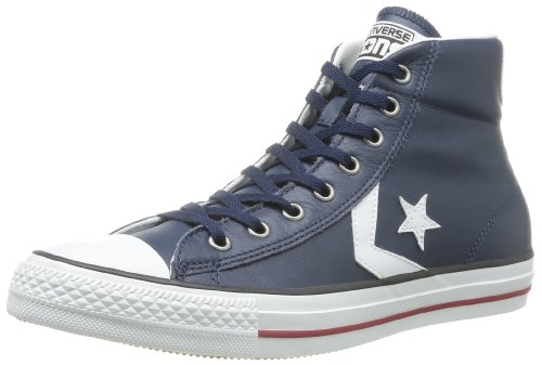 CONVERSE Unisex-Adult Star Player Ev Leather Mid Trainers 060590-610-10 Marine 7.5 UK, 41 EU