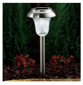 westinghouse set of 8 solar led lights stainless steel landscape path lig. Black Bedroom Furniture Sets. Home Design Ideas