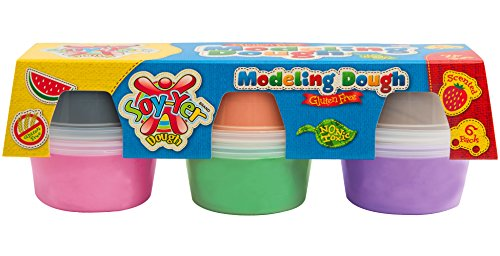 Soy-Yer Dough Gluten Free Modeling Dough, 6 Pack (Soy Play Dough compare prices)