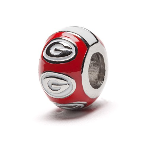 University of Georgia 3-D Round Bead with