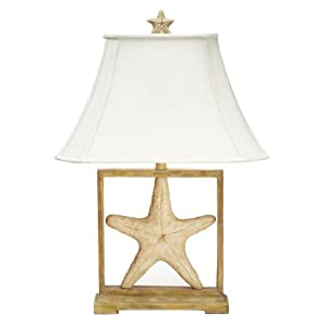 Nautical Desk Lamps on Pack 2 Nautical Framed Starfish Decorative Table Lamps  Amazon Co Uk