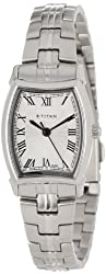 Titan Work Wear Analog Silver Dial Womens Watch - NC9858SM01J