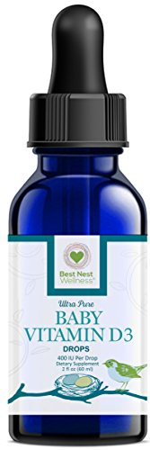Best Nest Baby Vitamin D3 Drops, 400 IU Per Drop, 2 Oz (Vitamin D Carlson Drops compare prices)