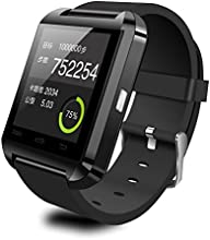 CIYOYO BLUETOOTH SMART WATCH TOUCH SCREEN WITH MIC FOR IPHONE AND ANDROID, SAMSUNG S4 S5 NOTE 2 NOTE 3 HTC (BLACK)