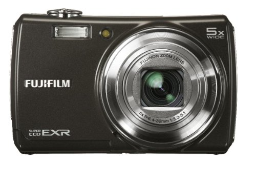 Fujifilm Finepix F200EXR Digital Camera - Black (12MP, 5x Optical Zoom) 3 inch LCD