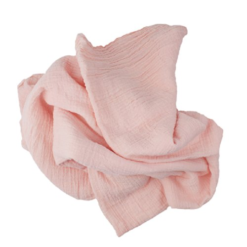 "Camden Rose Cotton Gauze Swaddling Blanket, Peach, 45"" X 56"" front-377847"
