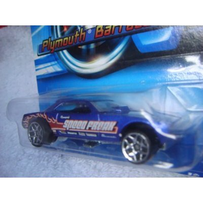 Hot Wheels Plymouth Barracuda Funny Car 2005 #183 5y Blue With Flamz 1/64 Collector - 1
