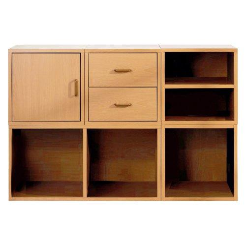 Foremost 5-in-1 Modular Storage System, Honey, Wood Veneers