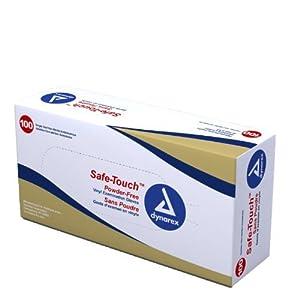 SafeTouch Nitrile Exam Gloves, Non Latex, Powder Free, Medium, Box/100