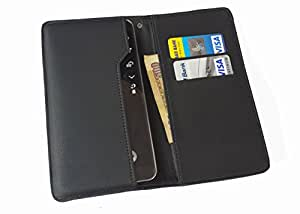 nKarta ™ OD Black Flip Flap Wallet Pouch Mobile Cover Case with Card holder Slots for HTC Desire 825