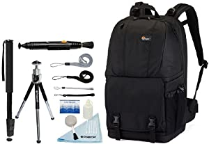 Lowepro Fastpack 350 Backpack (Black) + Accessory Kit for Nikon D3/D3S/D3X/D40/D50/D60/D70S/D80/D90/D700/D300/D300S/D7000/D90/D5100/D5000/D3100/D3000/FM10/F100 Digital SLR Cameras