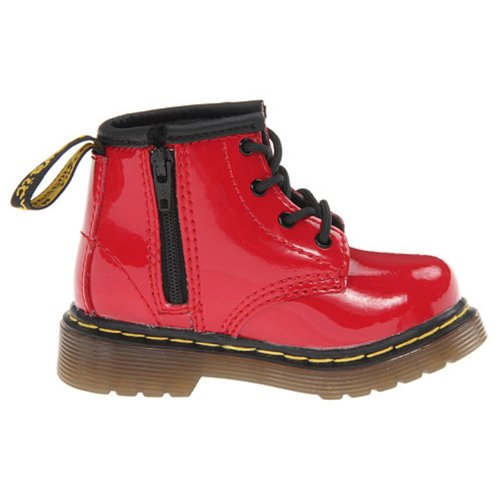 Dr.Martens Brooklee Red Patent Toddler Boots Size 10 Us front-1011831